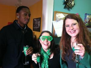 Robert, Meredith and I are loving our Shamrock Mimosas!