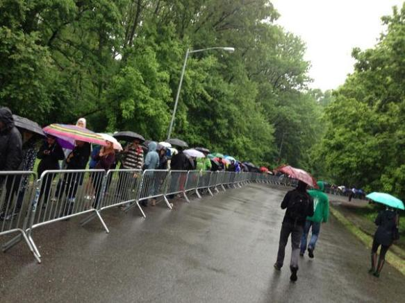 Hundreds of people waited in line with hopes that the rain wouldn't ruin their Googa Mooga fun