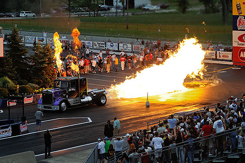 I've literally seen Bob Motz race his crazy truck at least 50 times since I was a little girl.